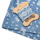 Ткань 48*50 см 28877 джинс с тесьмой голубой 614353
