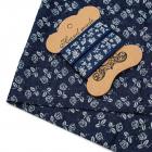 Ткань 48*50 см 28877 джинс с тесьмой синий  614351