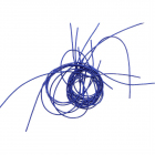 Проволока декоративная (трунцал) д.1,0 мм КЯ007НН1 металлизир. синий (уп 5 гр)