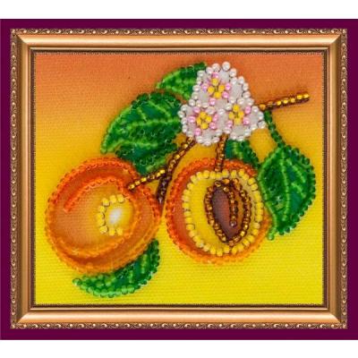 Набор для вышивания бисером магнит АМА-024 «Абрикосы» 8*7 см в интернет-магазине Швейпрофи.рф
