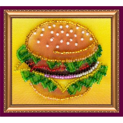 Набор для вышивания бисером магнит АМА-028 «Бутербродик» 8*7 см в интернет-магазине Швейпрофи.рф