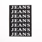 Нашивка LA91 «JEANS» 1,5*7 см черный