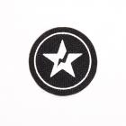 Нашивка LA90 Белая звезда в круге 4*4 см