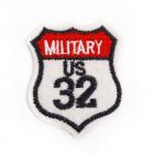 Термоаппликация LА116 «MILITFRY US 32» 4*5 см (10)