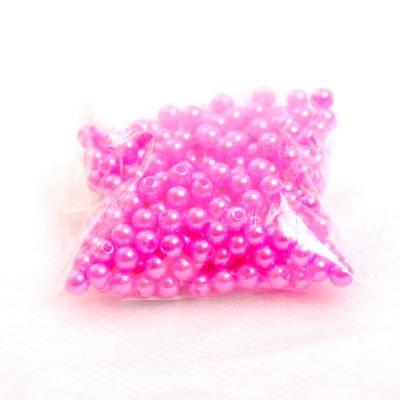 Бусины пластм.  4 мм (уп. 10 г) 096 яр. розовый в интернет-магазине Швейпрофи.рф