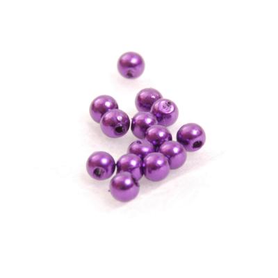 Бусины пластм.  4 мм (уп. 10 г) 133 фиолетовый в интернет-магазине Швейпрофи.рф