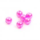 Бусины пластм.  8 мм (уп. 10 г) 096 яр. розовый
