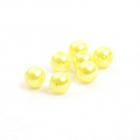 Бусины пластм.  8 мм (уп. 10 г) А08 лимон