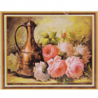 Алмазная мозаика DIY К-1665 «Розы и кувшин» 28*38 см