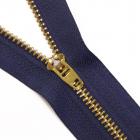 Молния Т4 джинс. п/авт.М-4002 14 см золото/синий 330