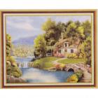 Алмазная мозаика DIY К-1757 «Дом у реки» 28*38 см