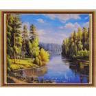 Алмазная мозаика DIY К-1678 «Река в лесу» 28*38 см