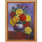 Алмазная мозаика DIY (с рамкой) Q-186 «Букет роз» 20*30 см