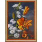 Алмазная мозаика DIY (с рамкой) Q-176 «Букет лилий» 20*30 см
