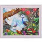 Алмазная мозаика DIY (с рамкой) Q-123 «Райский уголок» 20*30 см