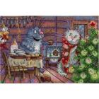 Набор для вышивания М.П.Студия НВ-682 «Новогодняя ночь» 16*23 см