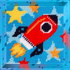 Набор для вышивания с пряжей BAMBINI  X2005 «Ракета» 15*15 см