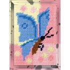 Набор для вышивания с пряжей BAMBINI  X2109 «Бабочка» 10*14 см