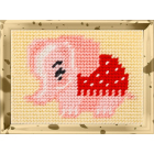 Набор для вышивания с пряжей BAMBINI  X2115 «Розовый слон» 10*14 см