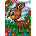 Набор для вышивания с пряжей BAMBINI  X2131 «Олененок» 10*14 см