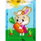Набор для вышивания с пряжей BAMBINI  X2132 «Зайка с морковкой» 10*14 см