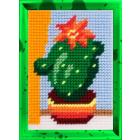 Набор для вышивания с пряжей BAMBINI  X2142 «Кактус» 10*14 см