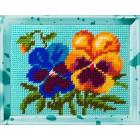 Набор для вышивания с пряжей BAMBINI  X2207 «Анютины глазки» 15*20 см