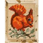 Набор для вышивания с пряжей BAMBINI  X2217 «Белка» 15*20 см