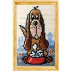 Набор для вышивания с пряжей BAMBINI  X2320 «Собачье лакомство» 15*25 см