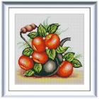 Ткань с рисунком для вышивания бисером «Конек 1322 Яблочный чайник» 25*25 см