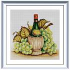 Ткань с рисунком для вышивания бисером «Конек 1323 Молодое вино» 25*25 см