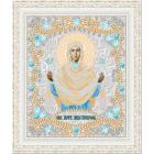 Ткань с рисунком для вышивания бисером «Конек 7107 Б. Покрова» 29*39 см