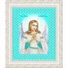Ткань с рисунком для вышивания бисером «Конек 7108 Ангел Хранитель» 20*25 см