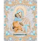 Ткань с рисунком для вышивания бисером «Конек 7124 Б. Владимирская» 15*18 см