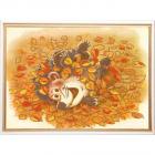 Ткань с рисунком для вышивания бисером «Конек 8412 Осенняя радость» 29*39 см