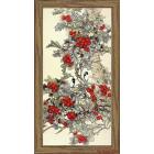 Ткань с рисунком для вышивания бисером «Конек 9466 Лесные ягоды» 25*45 см