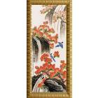 Ткань с рисунком для вышивания бисером «Конек 9613 Водопад » 25*65 см