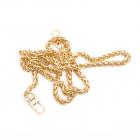 Цепочка для сумки с карабинами дл.1,0 м (шир.7 мм) С золото