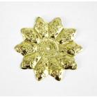 Декоративный элемент «Цветок» 48 мм 7703989 (уп. 5 шт.) золото