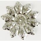 Декоративный элемент «Цветок» 48 мм 7703989 (уп. 5 шт.) серебро