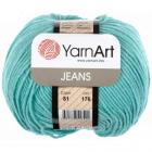 Пряжа Джинс (YarnArt Jeans), 50 г / 160 м, 81 голубая бирюза