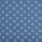 Ткань 50*50 см джинс 1811-31 «Ромб», 60% хлопок, 40% п/э т. голубой