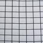 Ткань 50*50 см 30% лен 70% хлопок TBY-DJ-24 122205 серый/черный