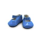 Обувь для игрушек (Туфли) 28338 6,5 см выс 2,5 см лак св. синий (пара)