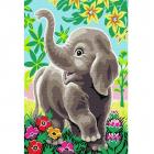 Картина по номерам Molly KH0896  «Слоненок в сказочном лесу»  20*30 см