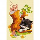 Картина по номерам Molly KH0880  «Котенок в ботинке»  20*30 см