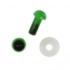 Глаза винтовые Астра 5 мм с фиксатором (уп 24шт) зелёный 7722409