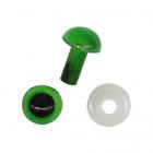 Глаза винтовые Астра 6 мм с фиксатором (уп 24шт) зелёный 7722410