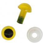 Глаза винтовые Астра 6 мм с фиксатором (уп 24шт) янтарный 7722410