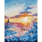 Набор для вышивания Овен №1182 «Закат на море» 20*26 см